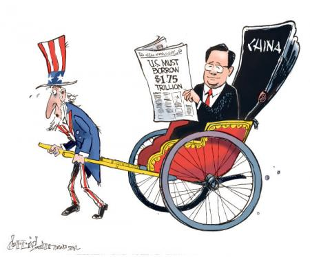 debt cartoon china